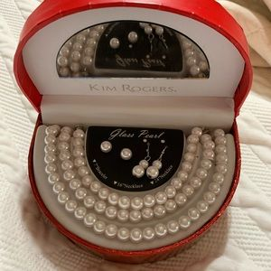 Pearl jewelry set NWOT